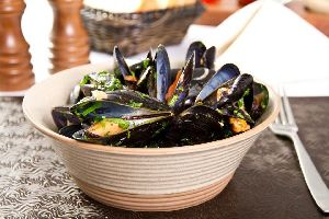 Bouchot mussels , France