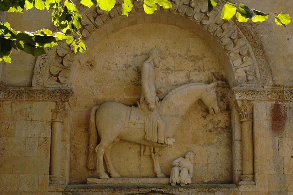 Eglise Saint Hilaire de Melle , Le portail Nord , France
