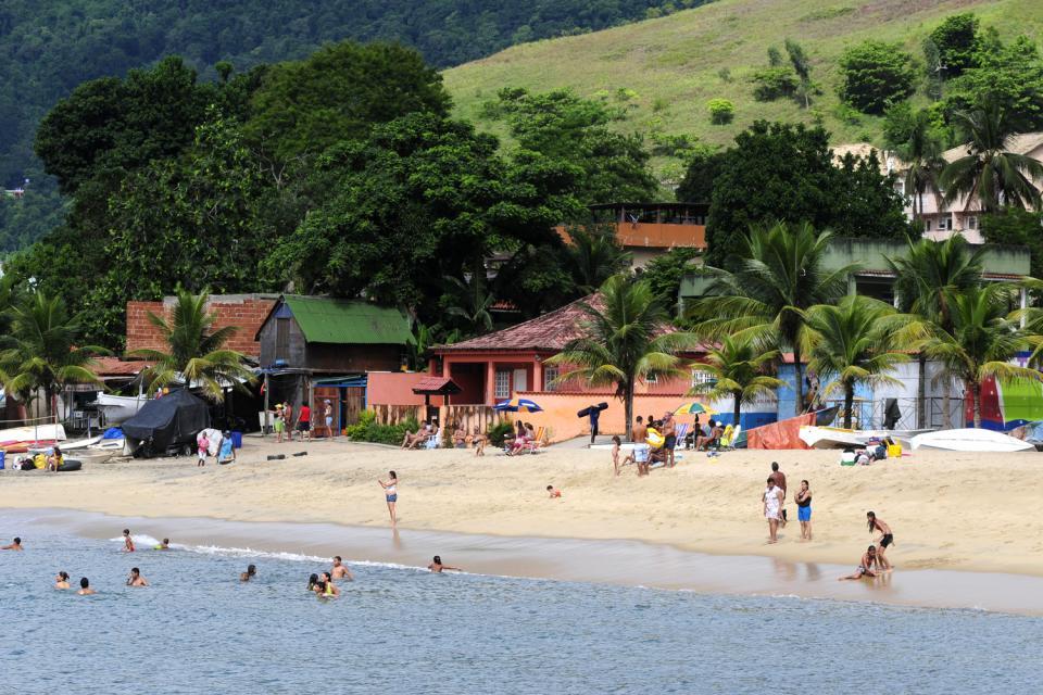 Ilha Grande et la baie d'Angra dos Reis , Plage Ihla Grande , Brésil