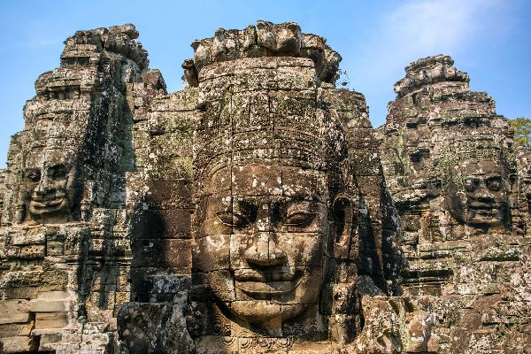 Angkor , The statues of Angkor Thom , Cambodia