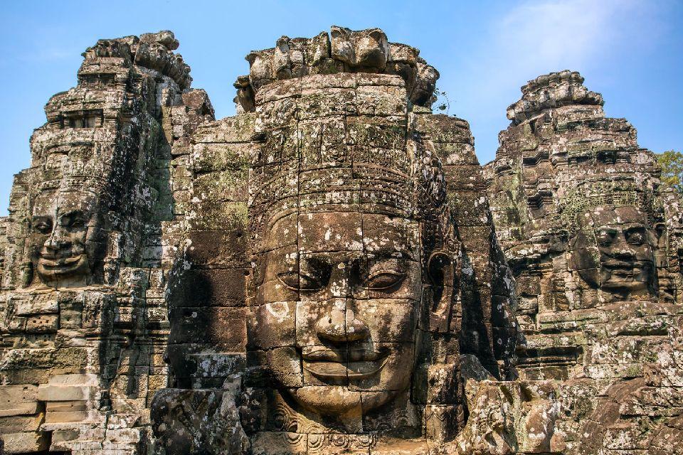 Angkor , The statues of Angkor Thom , Cambodia