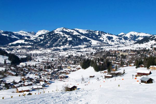 Gstaad , A large ski resort , Switzerland