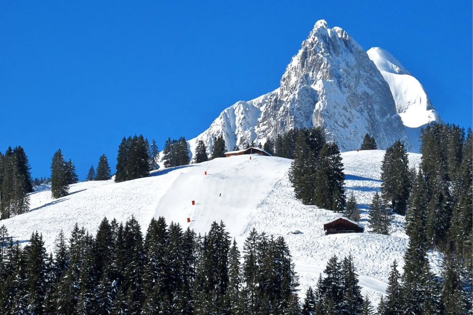 Le village de Gstaad , Le domaine skiable de Gstaad , Suisse