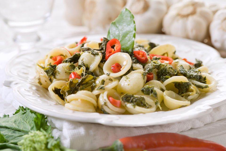 Orecchiette mit Rübensprossen, Gastronomie, Apulien