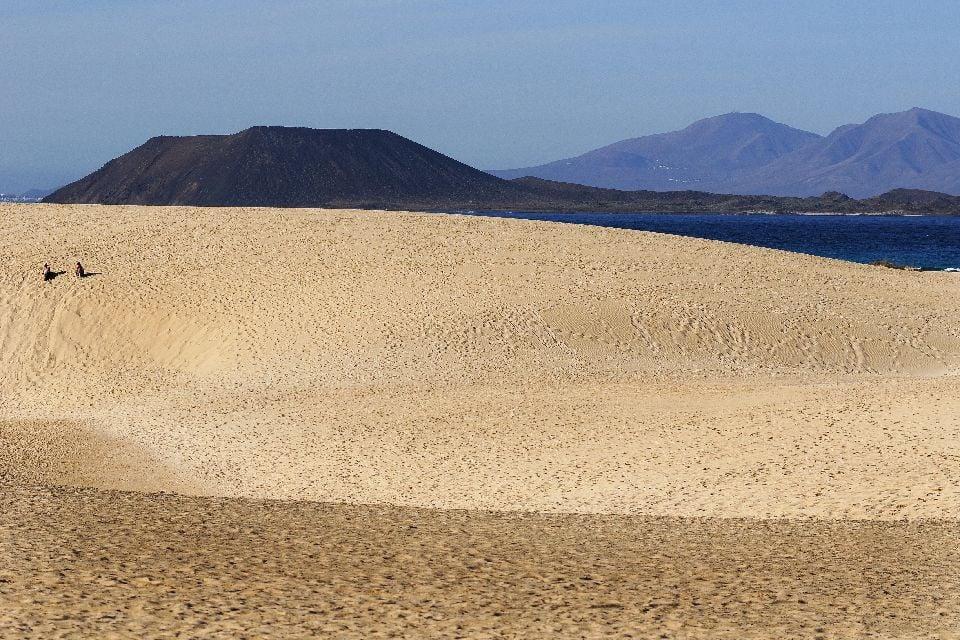 Fuerteventura , Les dunes de Corralejo , La plage des dunes , Espagne