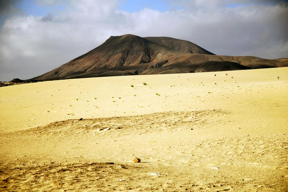 Fuerteventura , The sand dunes of Corralejo , A landscape out of the Wild West , Spain