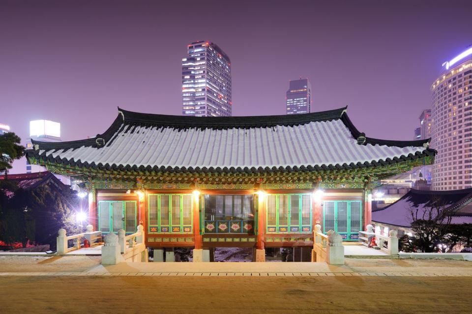 El templo de Bongeunsa , Corea del Sur