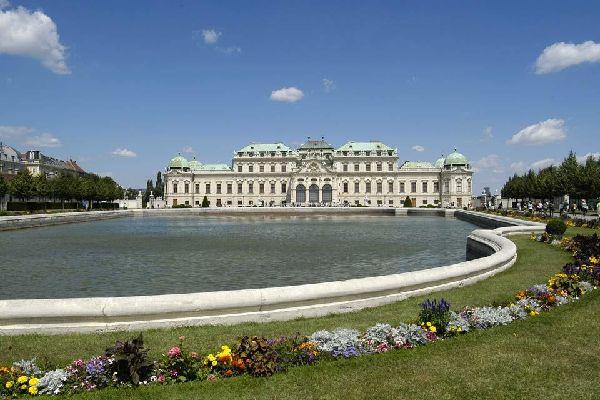 Un printemps à Vienne , Le palais du Belvédère , Autriche