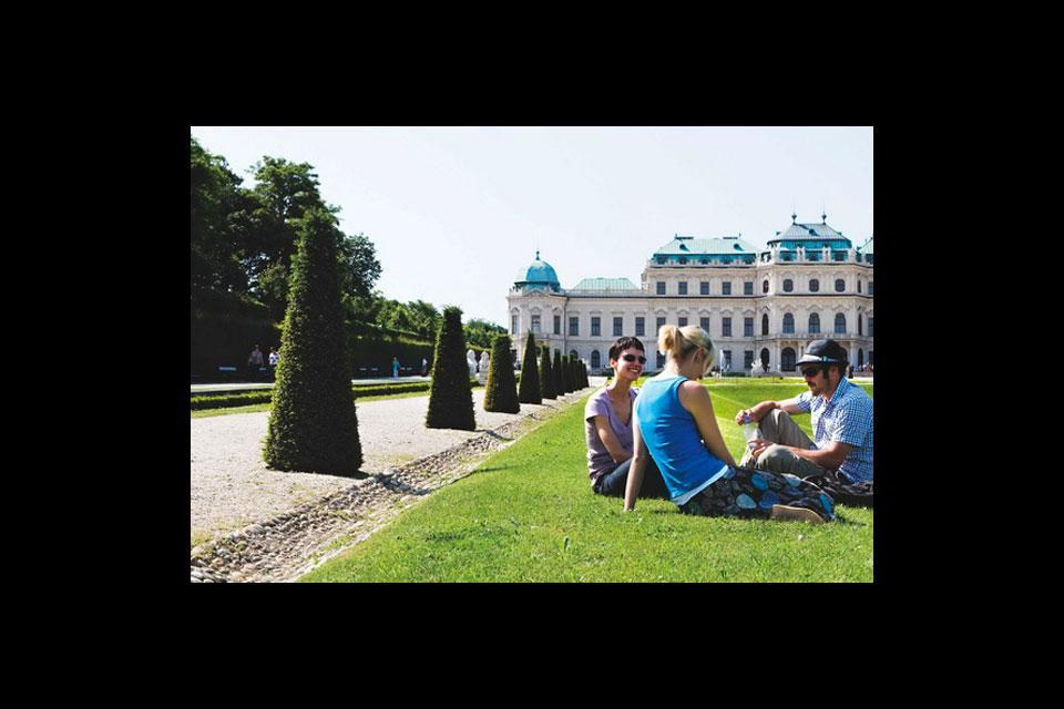 Una primavera en Viena , Parques y jardines de Viena , Austria