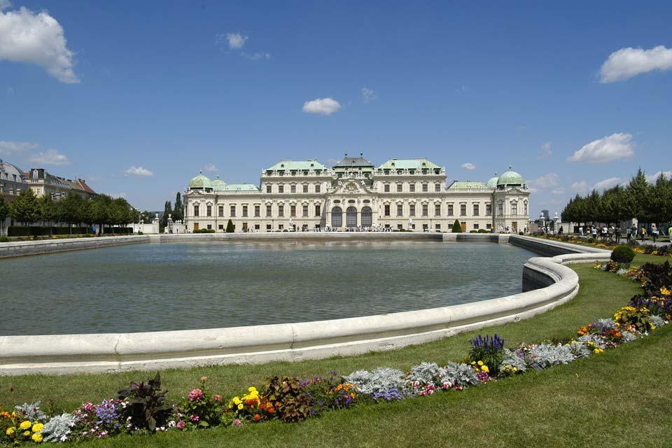 Una primavera en Viena , El palacio del Belvedere , Austria
