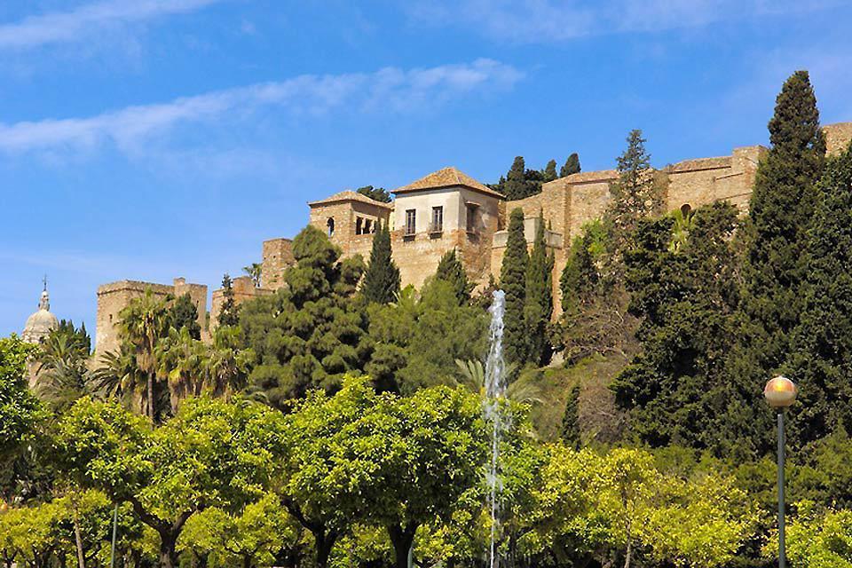 L'alcazaba de Malaga , Espagne