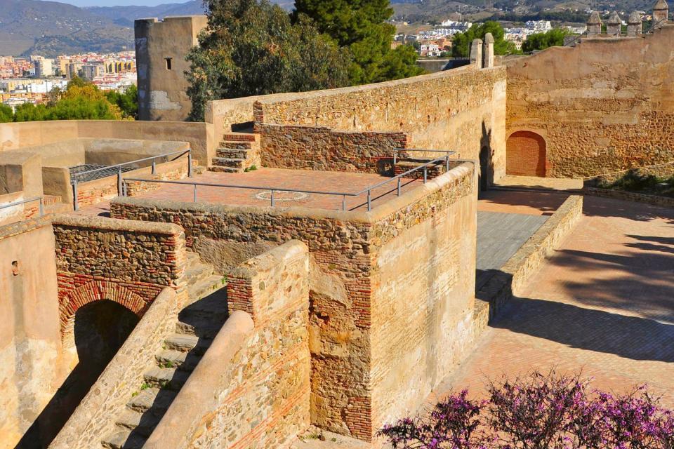 Il castello di Gibralfaro , Spagna