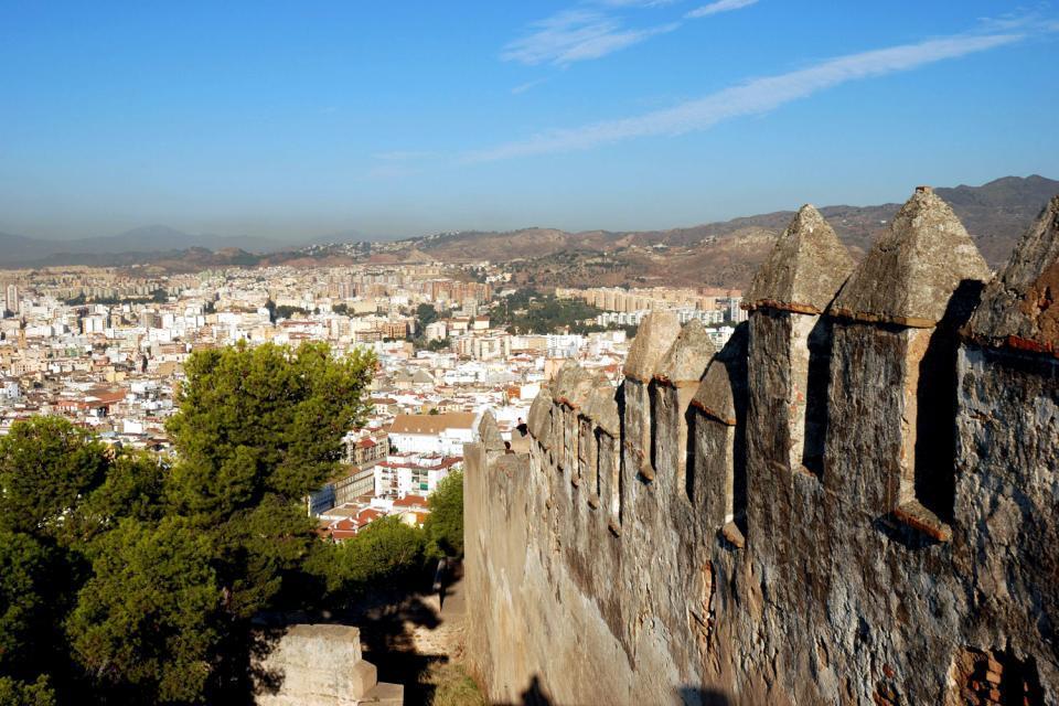 Le château de Gibralfaro, Les monuments, Un panorama à couper le souffle, Andalousie
