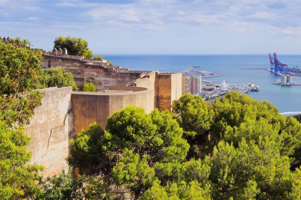 Le château de Gibralfaro, Les monuments, Les murailles du castillo de Gibralfaro, Andalousie