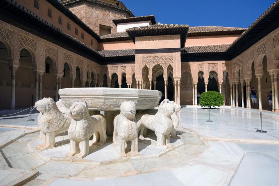 L'Alhambra a Granada , I giardini del Partal , Spagna