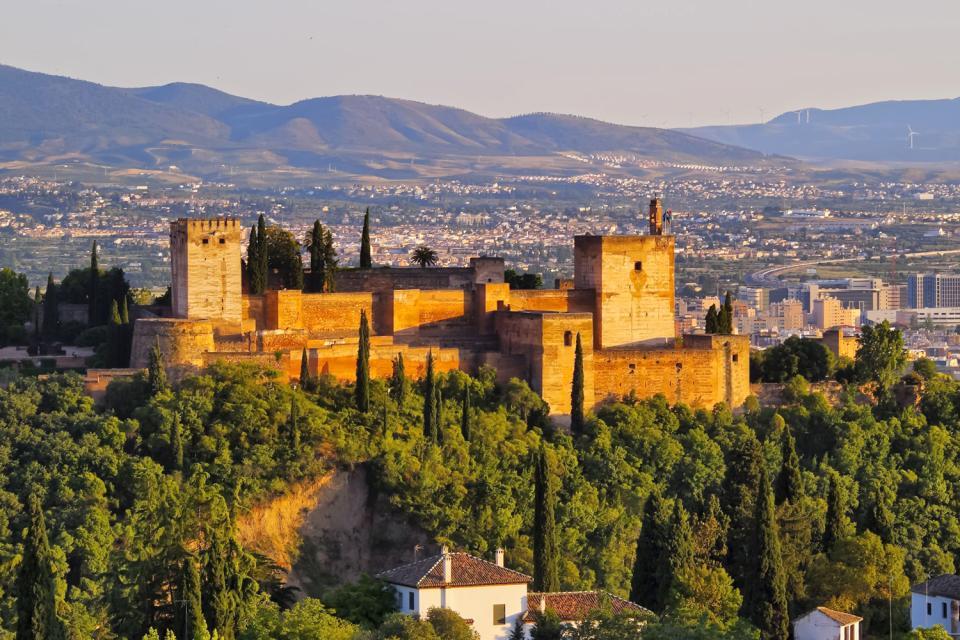 L'Alhambra a Granada , Gli antichi palazzi reali , Spagna