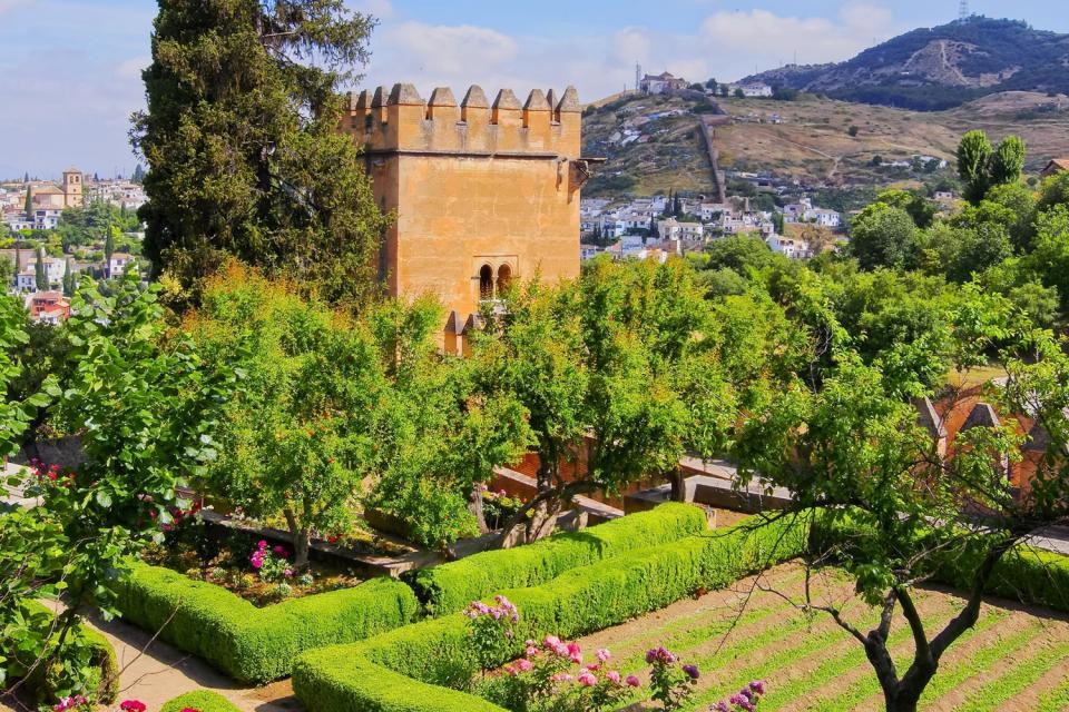 L'Alhambra a Granada , La cittadella rossa , Spagna