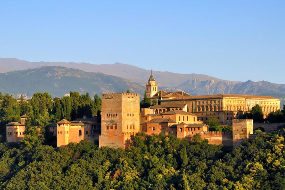 The Alhambra of Granada , Spain