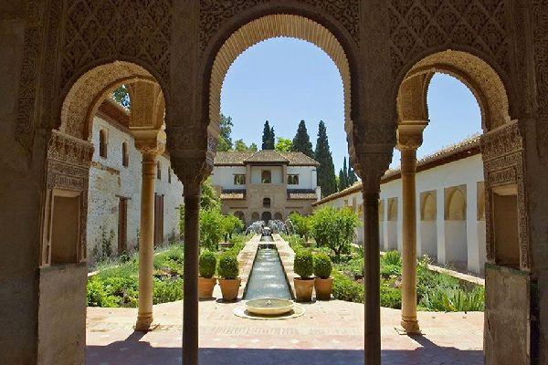 El palacio de Generalife , El Palacio de Generalife, Granada , España