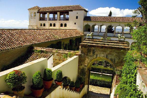 El palacio de Generalife , Panorámica del Palacio de Generalife, Málaga , España