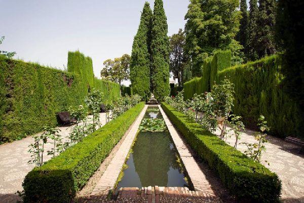 El palacio de Generalife , Los jardines , España