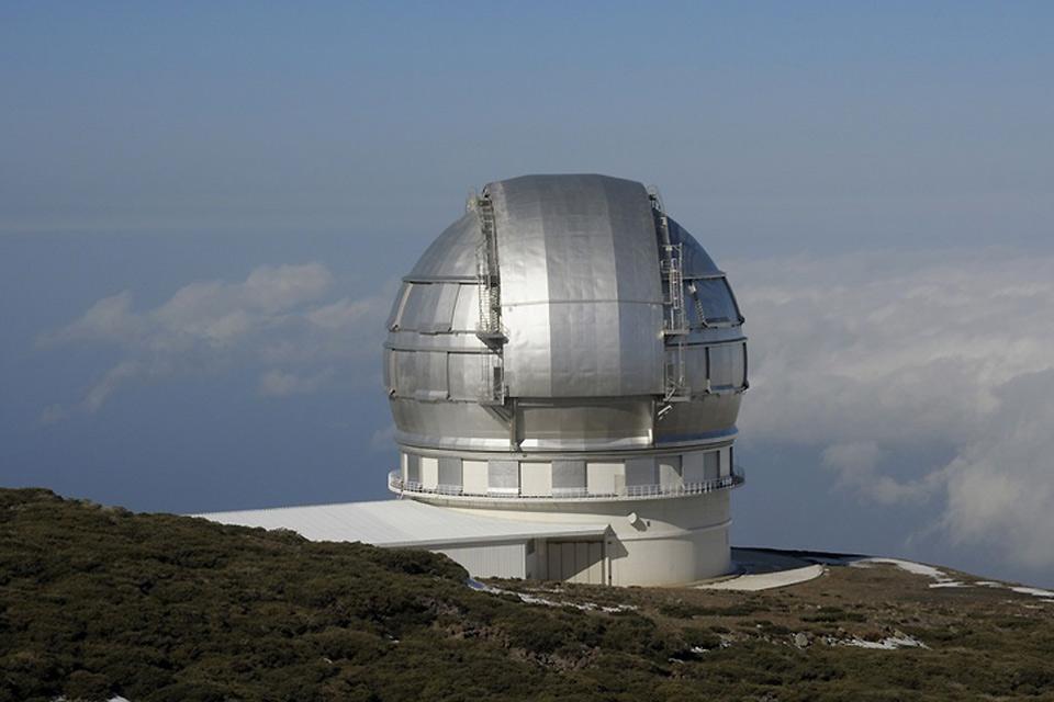 La Palma , La Caldera de Taburiente , El observatorio de Roque de los Muchachos , España