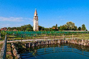El campo y las villas , La laguna de Venecia , Italia