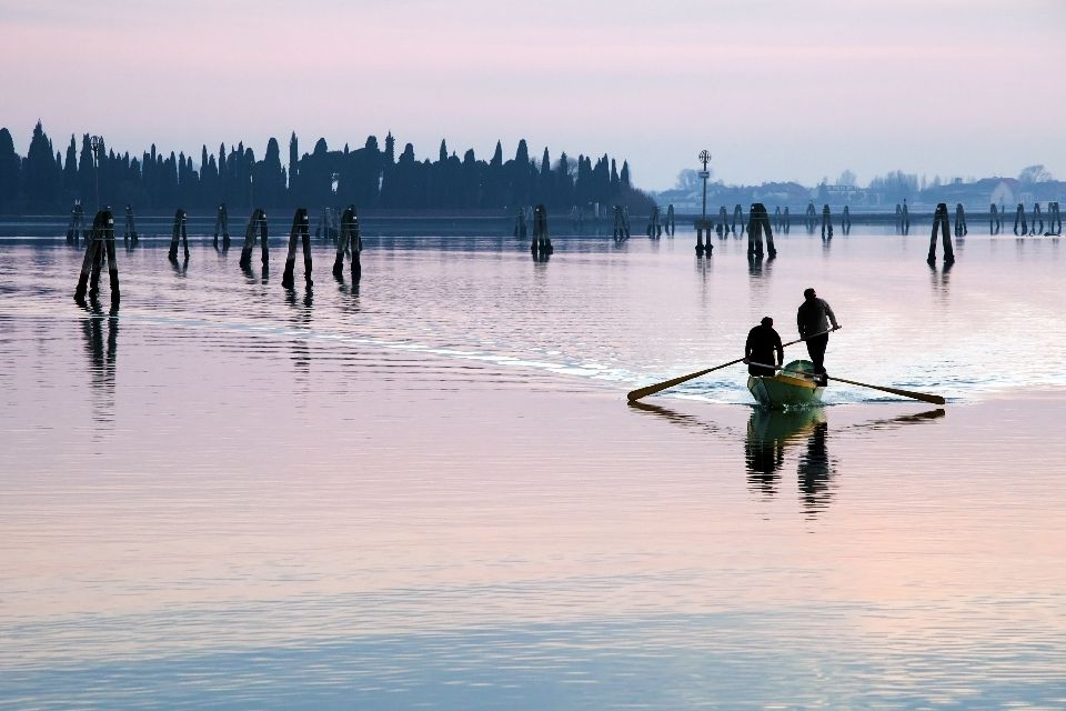 La campagne et les villas , La pêche vénitienne , Italie
