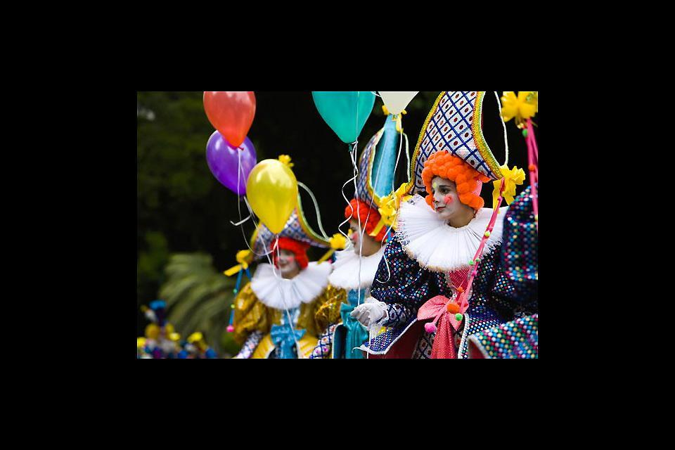 Carnivals , A clown parade , Spain