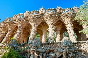 Les monuments, guell, parc, barcelone, gaudi, art, espagne, europe, catalogne.
