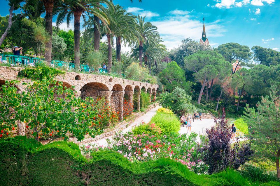 Le parc Güell à Barcelone - Catalogne - Espagne