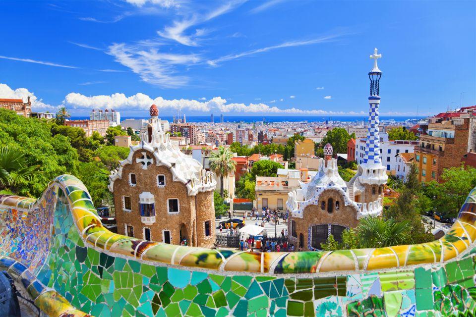 Panorama su Barcellona, Parc Güell, I monumenti, Barcellona, Catalogna