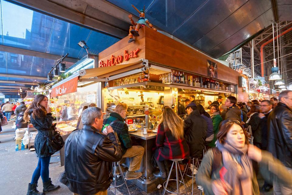 Le marché de la Boqueria , Espagne