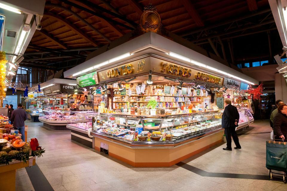 The Boqueria Market , Spain