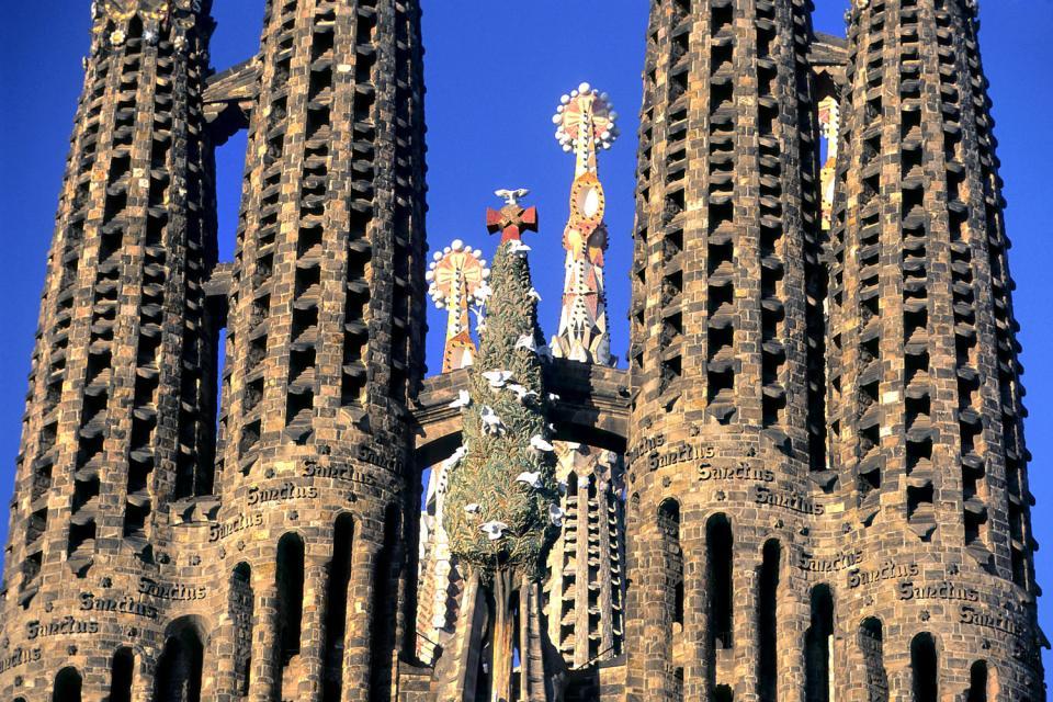 Temple de la Sagrada Familia , Cheminées féériques sur le toit , Espagne
