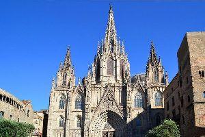 La cathédrale de Barcelone , Cathédrale de Barcelone , Espagne