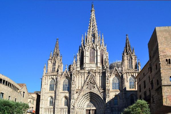 The Cathedral of Barcelona , Barcelona Cathedral , Spain