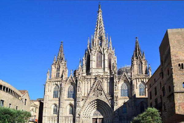 La catedral de Barcelona , España
