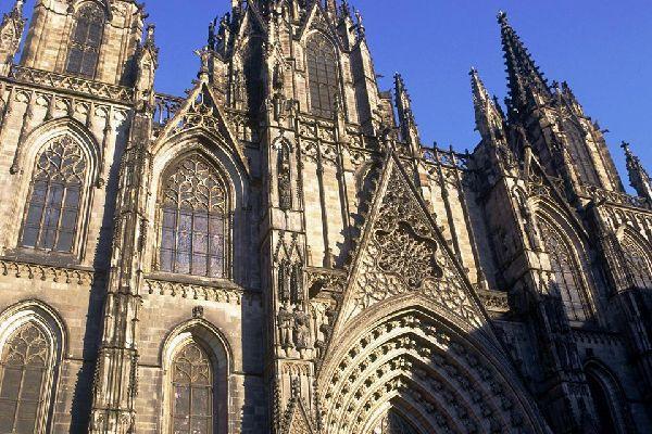 La cathédrale de Barcelone , Espagne
