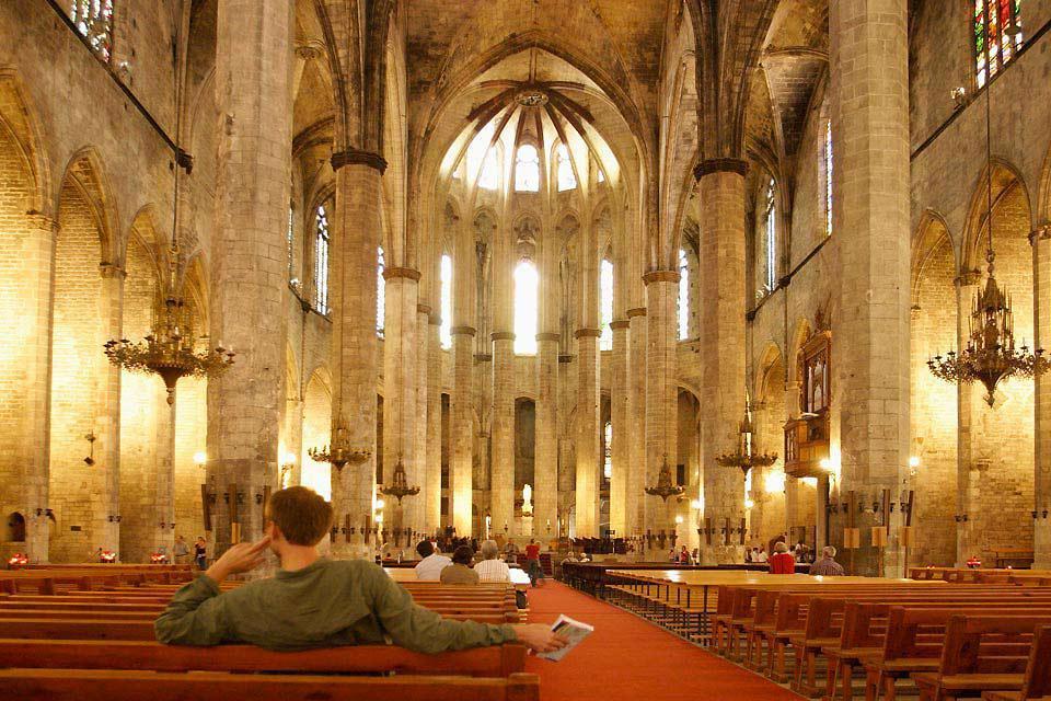 Die Basilika Santa Maria del Mar , Spanien