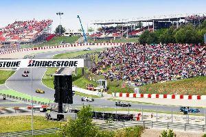 Die Rennstrecke Circuit de Catalunya , Circuit de Catalunya , Spanien