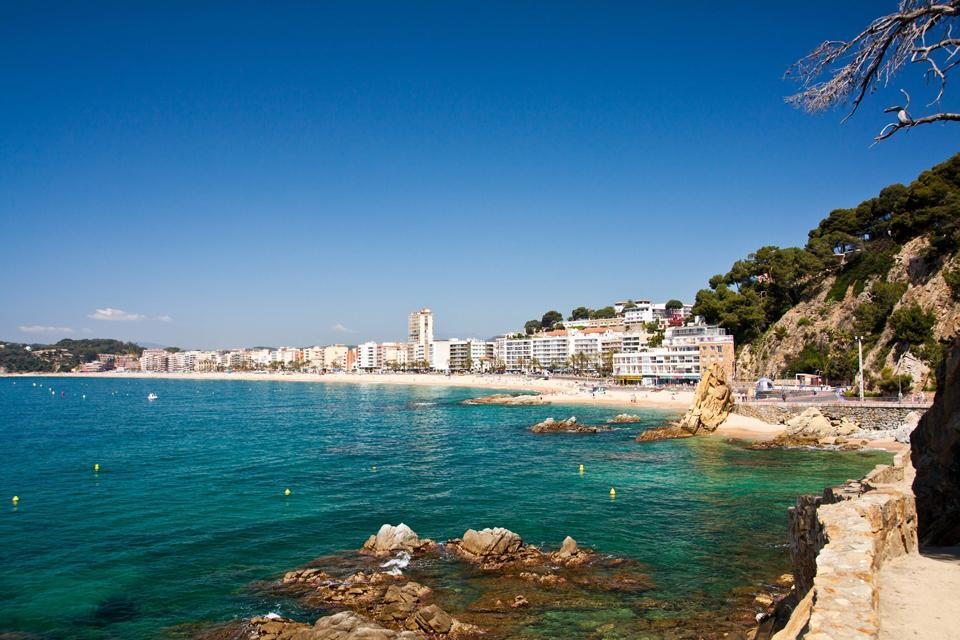 Nordic Walking in Lloret del Mar , Spanien