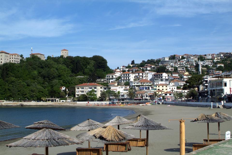 La costa meridionale , La stazione balneare di Ulcinj , Montenegro