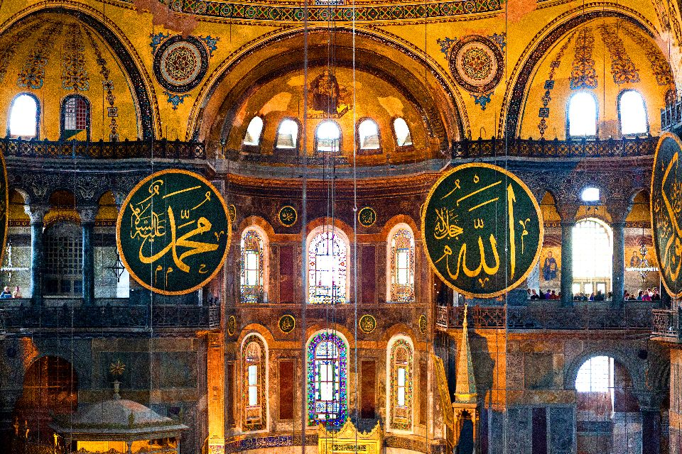 St. Sophia Museum , Mural paintings in the mosque , Turkey