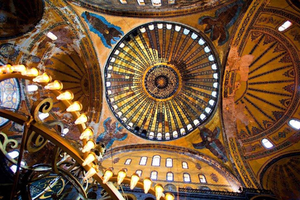 St. Sophia Museum , The dome of the museum , Turkey