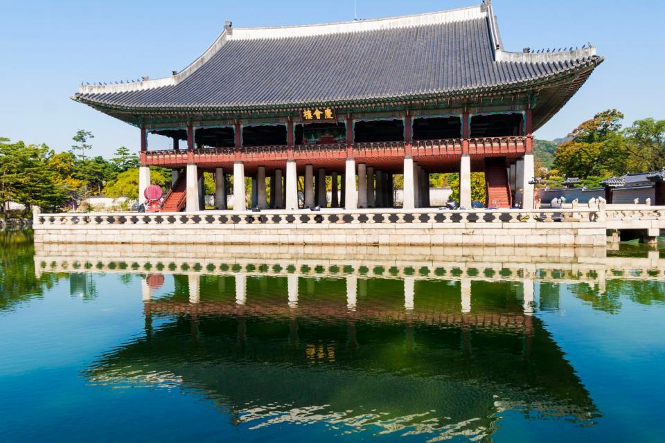 El palacio de Gyeongbokgung , Corea del Sur