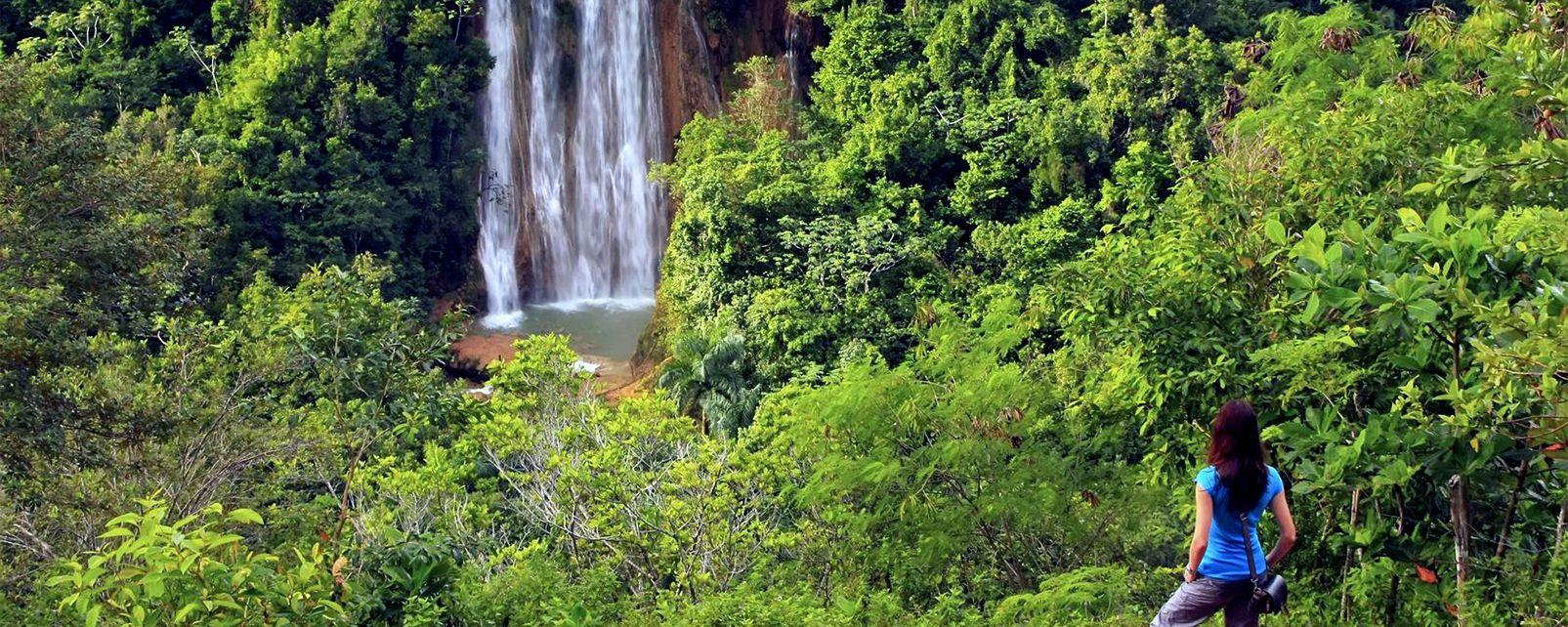 El Limon Waterfall, Salto de Limon (waterfall), Landscapes, Dominican Republic