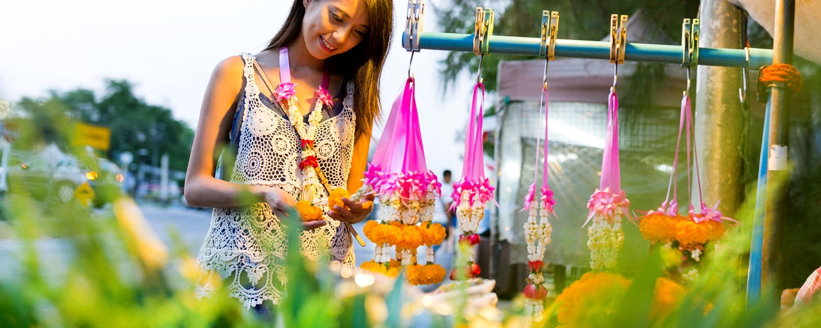 The flower markets, Thailand, Pak Khlong Talat, Arts and culture, Bangkok, Thailand