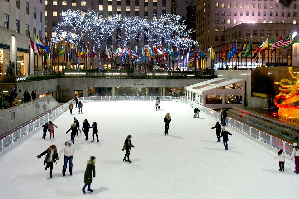 Rockfeller center , Patinoire , Etats-Unis
