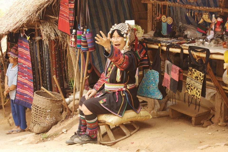 Le tribù del nord , Akha, Lisu, Karen, Lahu , The Akha tribe , Thailand